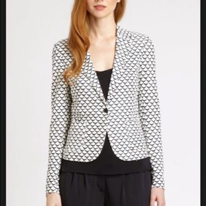 Tory Burch Hayley Scallop One Button Blazer